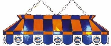 New York Mets 40 Inch Rectangular Stained Glass Billiard Light