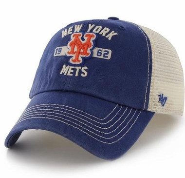 New York Mets 47 Brand Underhill Mesh Back Stretch Fit Hat