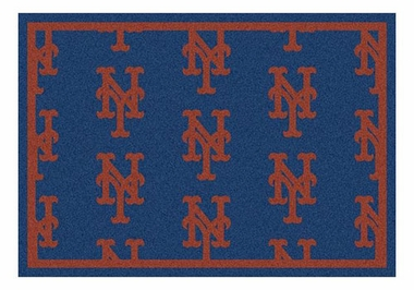 "New York Mets 5'4"" x 7'8"" Premium Pattern Rug"
