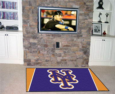 New York Mets 5 Foot x 8 Foot Rug