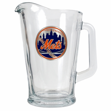 New York Mets 60 oz Glass Pitcher