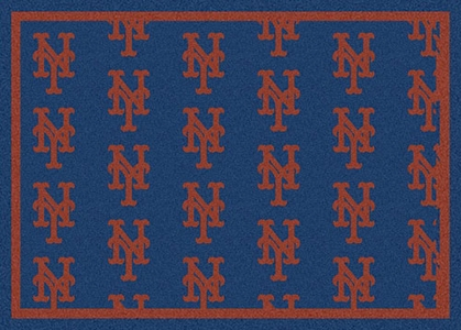 "New York Mets 7'8 x 10'9"" Premium Pattern Rug"