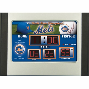 New York Mets Alarm Clock Desk Scoreboard