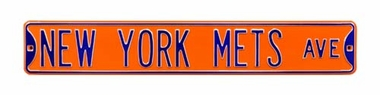 New York Mets Ave Orange Street Sign