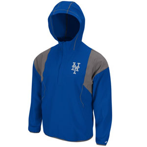 New York Mets Barracuda 1/2 Zip Water Resistant Jacket - Medium