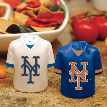 New York Mets Ceramic Jersey Salt and Pepper Shakers