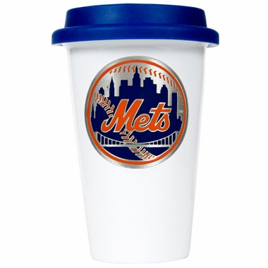New York Mets Ceramic Travel Cup (Team Color Lid)
