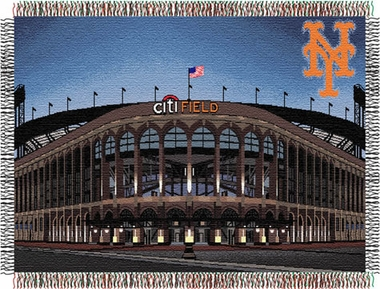 New York Mets Citi Field Woven Tapestry Throw Blanket
