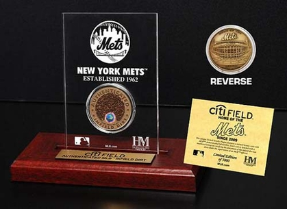 New York Mets CitiField Infield Dirt Coin Etched Acrylic