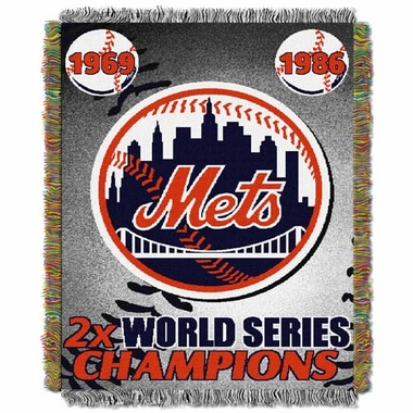 New York Mets Commerative Jacquard Woven Blanket