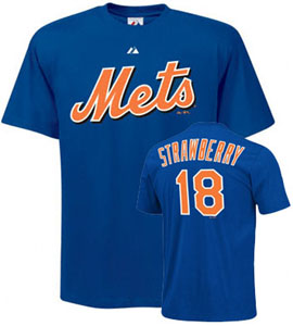 New York Mets Darryl Strawberry Name and Number T-Shirt - Small