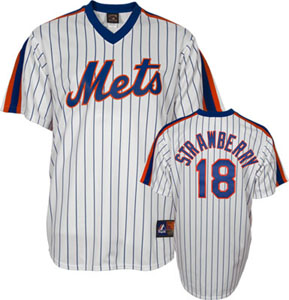 New York Mets Darryl Strawberry Replica Throwback Jersey - Large