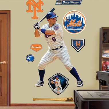 New York Mets David Wright Fathead Wall Graphic
