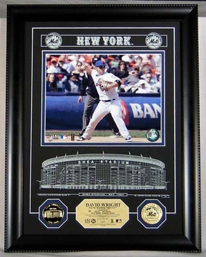 New York Mets David Wright Shea Stadium Etched Glass Photomint