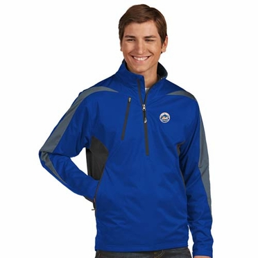New York Mets Mens Discover 1/4 Zip Pullover (Team Color: Royal)