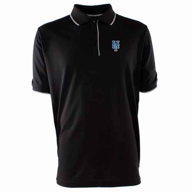 New York Mets Mens Elite Polo Shirt (Team Color: Black)