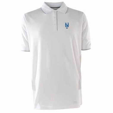 New York Mets Mens Elite Polo Shirt (Color: White)