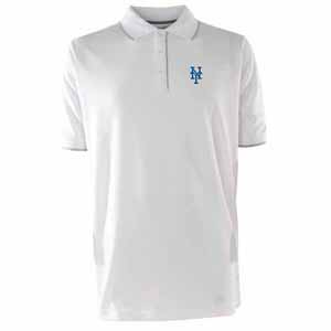New York Mets Mens Elite Polo Shirt (Color: White) - Large
