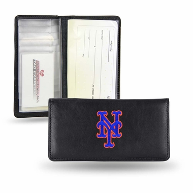 New York Mets Embroidered Leather Checkbook Cover