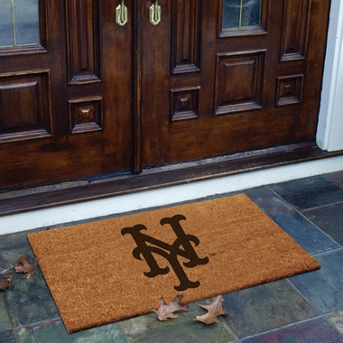 New York Mets Flocked Coir Doormat