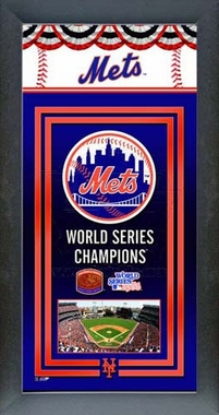 New York Mets Framed Championship Banner
