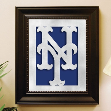 New York Mets Framed Laser Cut Metal Wall Art