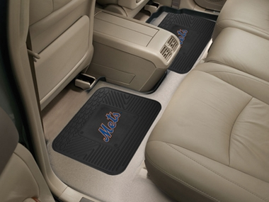 New York Mets SET OF 2 Heavy Duty Vinyl Rear Car Mats