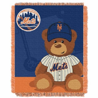 New York Mets Jacquard BABY Throw Blanket