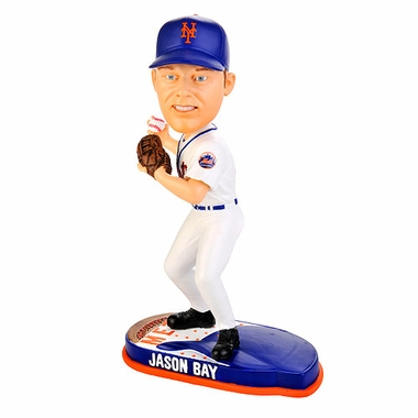 New York Mets Jason Bay 2010 Helmet Base Bobblehead Figure