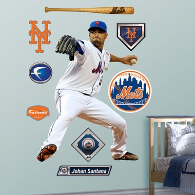 New York Mets Johan Santana Fathead Wall Graphic