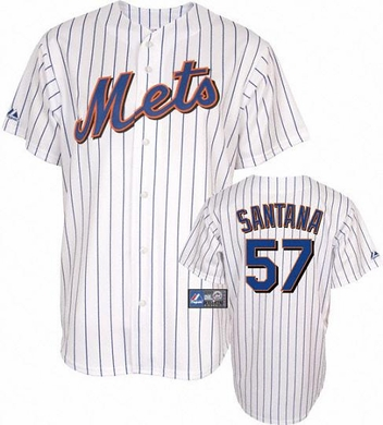 New York Mets Johan SantanaYOUTH Replica Player Jersey - Medium