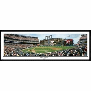 New York Mets Last Pitch Framed Panoramic Print