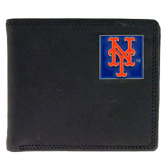 New York Mets Leather Bifold Wallet (F)