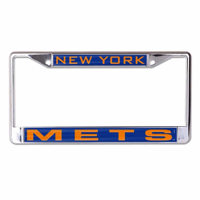 New York Mets License Plate Frame Inlaid