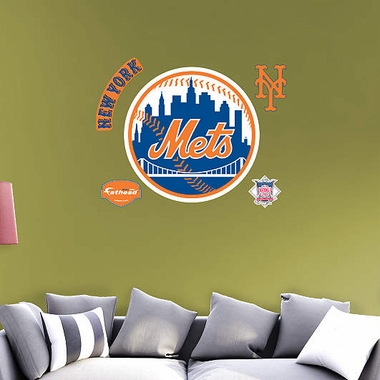 New York Mets Logo Fathead Wall Graphic