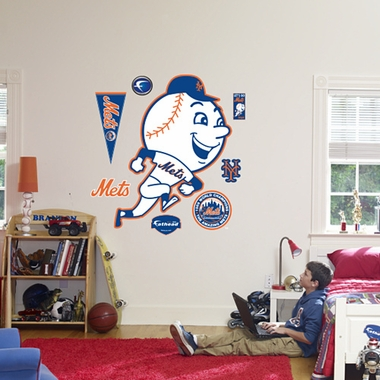 New York Mets Logo (Throwback) Fathead Wall Graphic