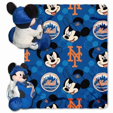 New York Mets Mickey Mouse Pillow / Throw Combo