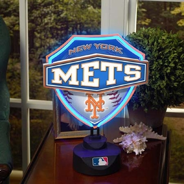 New York Mets Neon Shield Table Lamp