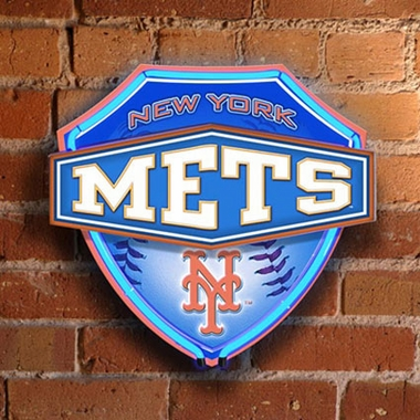 New York Mets Neon Shield Wall Lamp