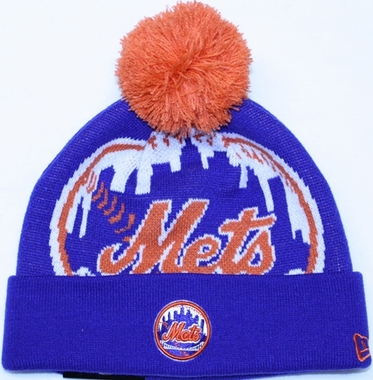 New York Mets New Era MLB Woven Biggie Cuffed Knit Hat