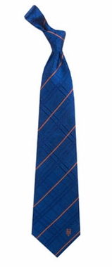New York Mets Oxford Stripe Woven Silk Necktie
