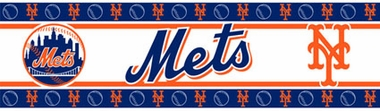 New York Mets Peel and Stick Wallpaper Border