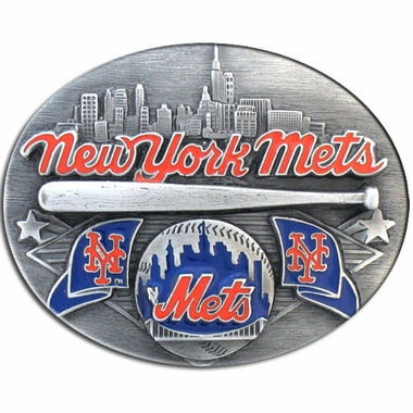 New York Mets Enameled Belt Buckle