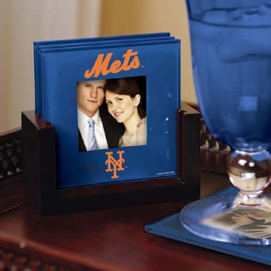 New York Mets Photo Coaster Set