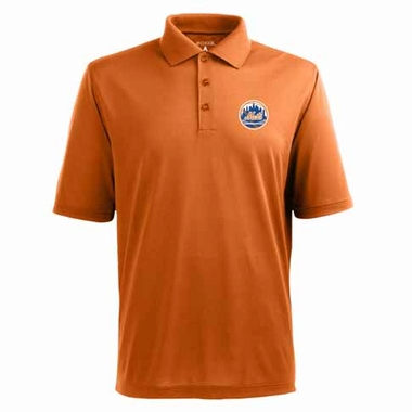 New York Mets Mens Pique Xtra Lite Polo Shirt (Alternate Color: Orange)