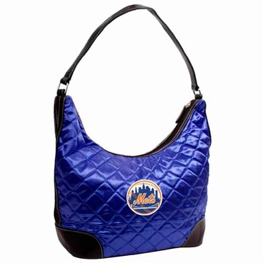 New York Mets Quilted Hobo Purse