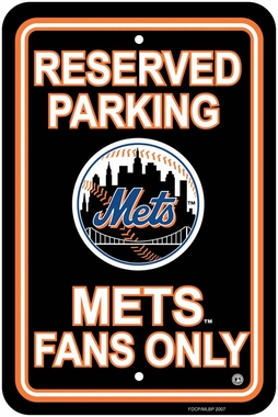 New York Mets Plastic Parking Sign (P)
