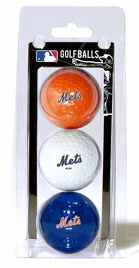 New York Mets Set of 3 Multicolor Golf Balls