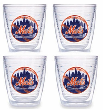 New York Mets Set of FOUR 12 oz. Tervis Tumblers