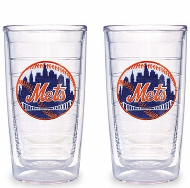 New York Mets Set of TWO 16 oz. Tervis Tumblers